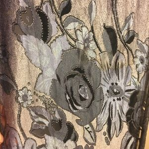 Scarf , silk like with flowers
